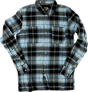 SC CLIFF BUTTON UP L/S S-BLUE PLAID