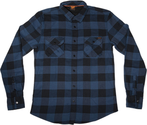SC WILDER BUTTON UP L/S S-BLUE PLAID
