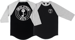 SKELETON KEY FACTORY DOT RAGLAN 3/4 SLV XL-BK/GREY