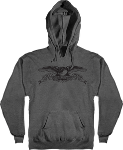ANTI HERO BASIC EAGLE HD/SWT S-CHARCOAL HEATHER/BLK
