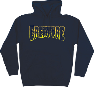 CREATURE LOGO OUTLINE HD/SWT M-NAVY