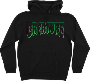 CREATURE LOGO OUTLINE HD/SWT M-BLACK