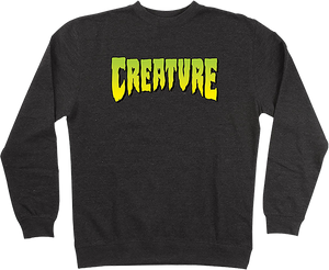 CREATURE LOGO CREW/SWT L-CHARCOAL HEATHER