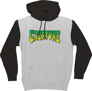 CREATURE LOGO HD/SWT S-GREY HEATHER/BLACK
