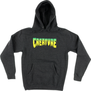 CREATURE LOGO HD/SWT L-CHARCOAL HEATHER