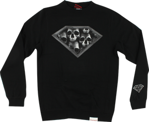 DIAMOND DMND SKULLS CREW/SWT XL-BLACK
