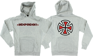 INDEPENDENT BAR/CROSS HD/SWT S-HEATHER GREY