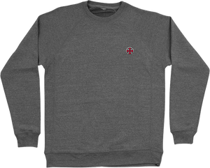 INDEPENDENT CROSS CREW/SWT L-NICKEL GREY