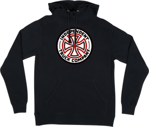INDEPENDENT RED/WHITE CROSS HD/SWT XL-BLACK