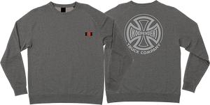 INDEPENDENT SUB CREW/SWT S-NICKEL GREY HEATHER