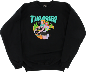 THRASHER BABES CREW/SWT XL-BLACK