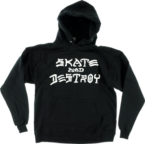 THRASHER SK8 & DESTROY HD/SWT M-BLACK