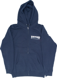 THRASHER SKATE MAG ZIP HD/SWT XL-NAVY