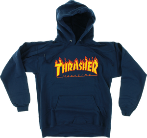 THRASHER FLAMES HD/SWT L-NAVY