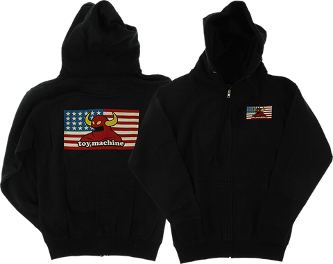 TOY MACHINE AMERICAN MONSTER ZIP HD/SWT S-BLACK