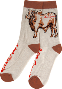 ANTI HERO COW CREW SOCKS HEATHER BRN 1 pair