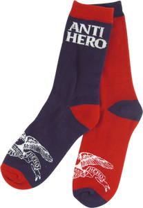 ANTI HERO EAGLE BLACKHERO CREW SOCKS NAVY/RED 1pr