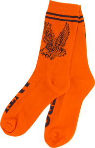 ANTI HERO FLYING EAGLE CREW SOCKS ORG/BLK 1 pair