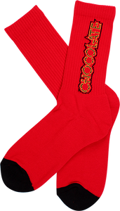 CHOC PARLIAMENT CREW SOCKS RED/BLK 1pr