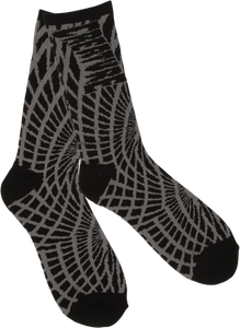 CREATURE FACE MELTERS CREW SOCKS BLK/GREY 1pr