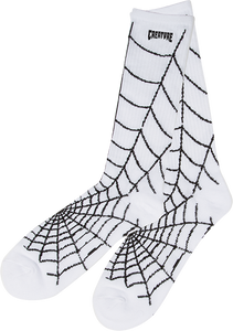 CREATURE WEBBERS CREW SOCKS WHITE/BLACK 1pr