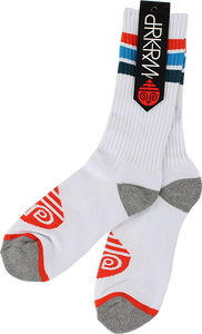DARKROOM ANTHEM CREW SOCKS WHITE 1pr