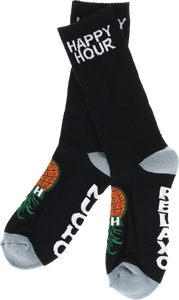 HAPPY HR MUCHO CREW SOCKS BLACK 1 pair