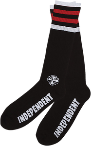INDEPENDENT CHARGED MID CREW SOCKS BLACK 1pr