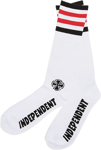 INDEPENDENT CHARGED MID CREW SOCKS WHITE 1pr