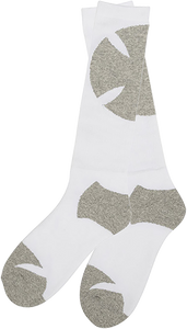 INDEPENDENT SHADOW MID CREW SOCKS WHITE/HEATHER GREY 1pr