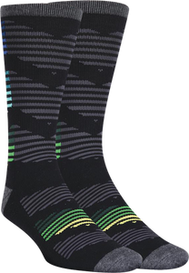 KURB SOCKS MENS CREW CHEVRONICON BLACK