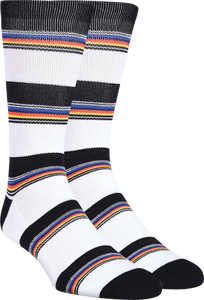 KURB HALF CUSHION CREW VARIEGATED STRIPE WHT