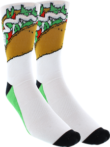 KURB SOCKS MENS CREW HARD SHELL WHITE