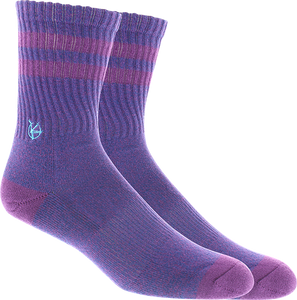 KURB SOCKS WOMENS BAMBOO MARL CREW LIMOGES/GRAPE