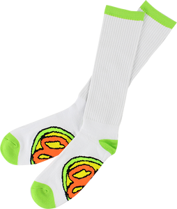 OJ WHEELS ELITE TALL SOCKS WHITE 1pr