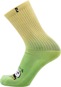 PSOCKADELIC BURNT CREW SOCKS GREEN 1pr
