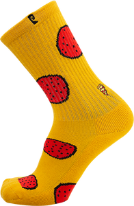 PSOCKADELIC DONUT CREW SOCKS YELLOW/RED 1pr