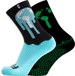 PSOCKADELIC EARTH CREW SOCKS GLOW