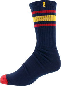 PSOCKADELIC HIGH TIMES CREW SOCKS NAVY/RED/YEL 1pr