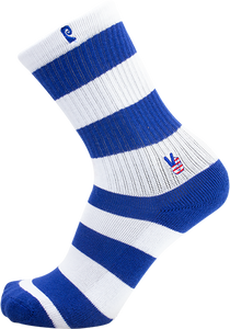PSOCKADELIC PEACE CREW SOCKS BLUE/WHITE 1pr