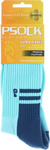 PSOCKADELIC SMOOTH CREW SOCKS BLUE 1pr