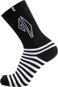 PSOCKADELIC DOLLIN STRIPES CREW SOCKS BLACK