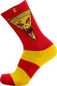 PSOCKADELIC FIGGY PIZZA CREW SOCKS RED/YEL