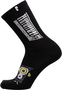 PSOCKADELIC WINDSOR EQUALIZER CREW SOCKS BLACK
