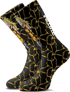 PRIMITIVE SKATEBOARD DBZ GOKU POWER LEVEL REW SOCKS BLK/YEL