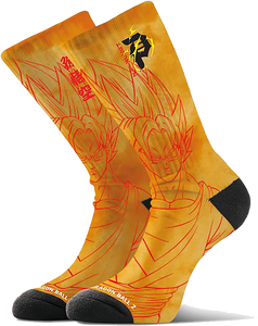 PRIMITIVE SKATEBOARD DBZ SAIYAN GOKU CREW SOCKS ORANGE