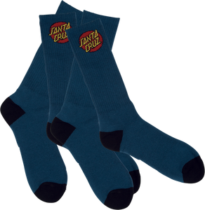 SANTA CRUZ CRUZ LOGO SOCKS NAVY 2 pair bundle