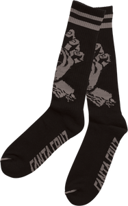 SANTA CRUZ HAND TALL SOCKS BLACK 1pr