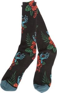 SANTA CRUZ SCREAMING VACATION CREW SOCKS BLACK 1pr