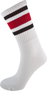 SOCCO CREW WHT/BLK/RED SOCKS(6-9)1pair